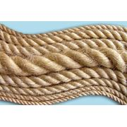 Веревка льняная для декора деревянного дома диам. 8 мм фото