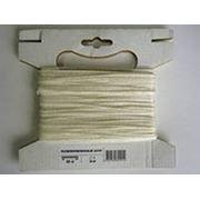 Шнур текстильный белый д3 фотография