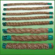 Веревка джутовая для декора деревянного дома диам. 10 мм фото