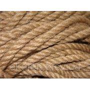Веревка джутовая для декора деревянного дома диам. 6 мм фото