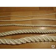 Веревка джутовая для декора деревянного дома диам. 14 мм фото