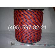 Канат (трос) полипропиленовый, кручёный д10 фото