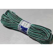 Веревка бельевая 5мм, зеленая, плетеная с наполнителем, потолочные бельевые веревки фото