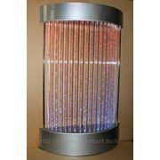 Колоннада из труб воздушно-пузырьковая с подсветкой фото