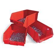 Ящик пластиковый 290х230х150 красный фото