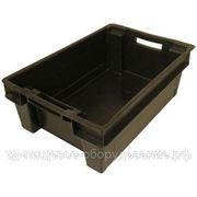 Ящик № 25, сплошной, черный (600*400*200) фото