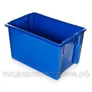 Ящик пластиковый синий фото