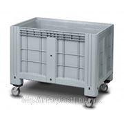 Цельнолитой пластиковый контейнер на колесах iBox 1200х800 фото