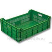 Ящик 600х400х200 мм, полностью перфорированный, ягодный, зеленый, арт. 106
