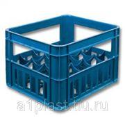 Ящик пластиковый под бутылку 0,5 л фото