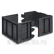 Складной пластиковый ящик с модульными стенками фото
