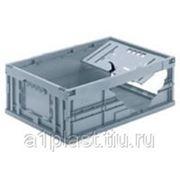 Складной пластиковый ящик с клиновым соединителем фото