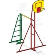 Турник с баскетбольным кольцом Т-1м (без сетки) фото