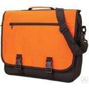 Конференц-сумка, оранжевая с черным. Размеры: 32х40х10 фото