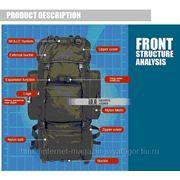 Двухместная армейская сумка рюкзак для туризма, спорта, отдыха, альпинизма. фото