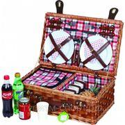 Набор пикниковый (корзина) на 4 персоны ZQ1-2113 фото
