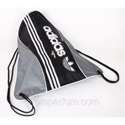 Рюкзак-мешок спортивный Adidas серый с черным 47х44 BK702-703grayblack /0-33 фото