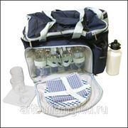 Набор для пикника на 4 персоны в сумке синий фото