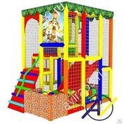 Детский игровой лабиринт. Джунгли-1 с батутом фото