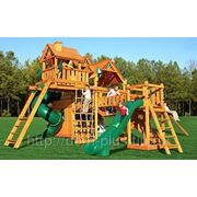 Игровая деревянная площадка фото