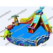 Надувной аквапарк фото