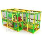 Детский игровой лабиринт. Джунгли с батутом фото