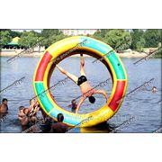 Надувной водный аттракцион колесо фото