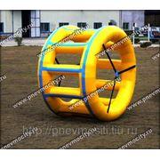 Детский надувной аттракцион водное колесо фото