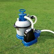 Песочный фильтрующий насос с хлоргенератором Intex Krystal Clear Sand Filter Pump 10000 л/ч фото