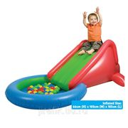 Надувная горка с сухим бассейном +50 шаров Upright фото