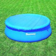 Тент для бассейна круглый 305 см BestWay фото