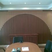 Оформление кабинета - жалюзи мультифактурные на заказ фото