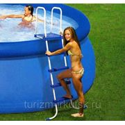 Лестница для бассейна надувного, каркасного с площадкой 122 см фото