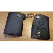 Кожаный чехольчик для ключа PEUGEOT фото