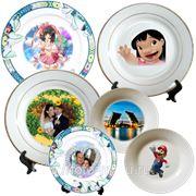 Тарелки с изображением по вашему заказу фото