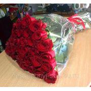 """Букет из 35 красных роз - премиум """"С Днем рождения!"""" фото"""