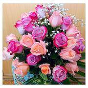 """Букет из 37 розовых и пурпурных роз """"Прости, я виноват!"""""""