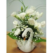 """Доставка цветов.Композиция """"Белый Лебедь"""". фото"""