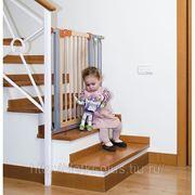 Барьер-калитка для лестниц и дверных проемов-для безопасности ребенка фото