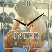 """Фирменные настенные часы 17х17см (ал-0,5мм, """"золото зеркальное"""", кварц.мех-м, стрелки) фото"""