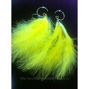 Серьги-перья желтые фото