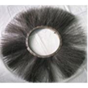 Щетка дисковая 120х550 металлический ворс (черный металл) фото