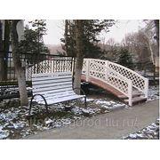 Декоративные мостики, скамейки парковые фото