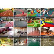 Резиновое покрытие для стадионов, бассейнов, детских и спортивных игровых площадок фото