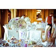 Композиции на столы гостей из живых цветов фото