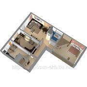 3D дизайн жилого помещения фото