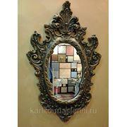 Декорирование зеркальных рам фото