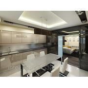 Дизайн интерьера кухни в стиле хай-тек фото