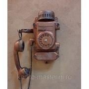 Декорирование старого шахтерского телефона ТА-200