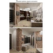 Дизайн-интерьера гостиной, кухни и коридора.... фото